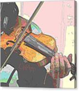 Contorno Fiddle Canvas Print