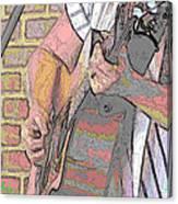Contorno Guitarist 1 Canvas Print