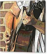 Contorno Guitarist 2 Canvas Print