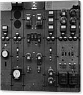 Control Panels Of The Detroit Edison Canvas Print