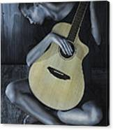Conversation With A Painting Canvas Print