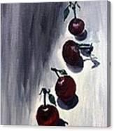 Conversation With Cherries  Canvas Print