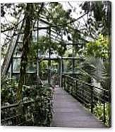 Cool House Inside The National Orchid Garden In Singapore Canvas Print