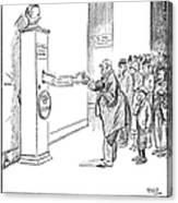 Coolidge Cartoon, 1925 Canvas Print