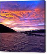 Copper River Fish Wheel Sunset Canvas Print