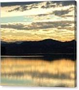 Copper Sky And Reflections Canvas Print