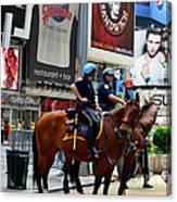 Cops In Manhattan Canvas Print