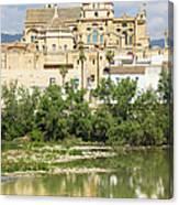 Cordoba Cathedral And Guadalquivir River Canvas Print