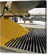 Corn At An Ethanol Processing Plant Canvas Print