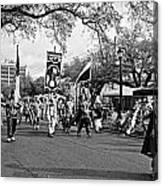 Corner Club 4 Black And White-mardi Gras Canvas Print