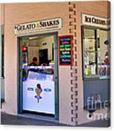 Corner Ice Cream Store Canvas Print