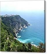 Corniglia Cinque Terre And Vineyards Canvas Print