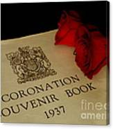 Coronation Book With Roses Canvas Print