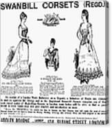 Corset Advertisement, 1892 Canvas Print