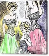 Corset Ladies Canvas Print