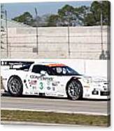 Corvette Racing Ron Fellows C6r Canvas Print