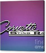 Corvette Sting Ray Emblem Canvas Print