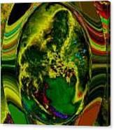 Cosmic Egg - Emerald Canvas Print