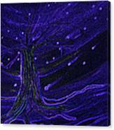 Cosmic Tree Blue Canvas Print