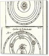 Cosmologies Of Copernicus And Tycho Canvas Print