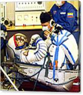 Cosmonaut Training, Soyuz Tma-8 Crew Canvas Print