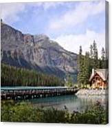 Crossing Emerald Lake Bridge - Yoho Nat. Park, Canada Canvas Print