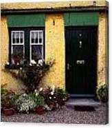Cottage At Bushmills, Co Antrim, Ireland Canvas Print
