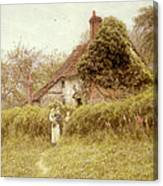 Cottage At Pinner Middlesex Canvas Print
