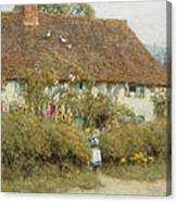 Cottage At West Horsley Surrey Canvas Print