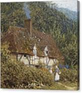 Cottage Near Witley Surrey Canvas Print