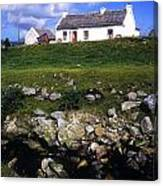 Cottage On Achill Island, County Mayo Canvas Print
