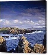 Cottage On Seashore, Ineuran Bay Canvas Print