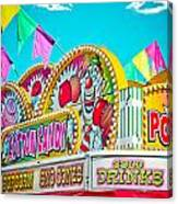 Cotton Candy Carnival Food Vendor Bold Color Canvas Print