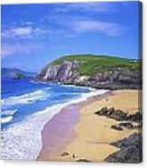 Coumeenoole Beach, Dingle Peninsula, Co Canvas Print