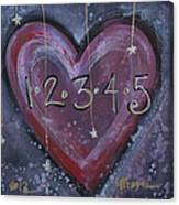 Counting Heart Canvas Print