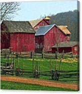 Country Barns Canvas Print