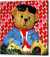 Country Bear Valentine Canvas Print