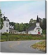 Country Church In Texture Canvas Print
