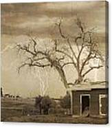 Country Horses Lightning Storm Ne Boulder County Co 76septx Canvas Print