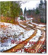 Country Lane Holiday Card Canvas Print