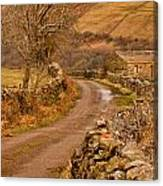 Country Lane Yorkshire Dales Canvas Print