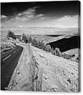 Country Mountain Road Through Glenaan Scenic Route Glenaan County Antrim Northern Ireland  Canvas Print