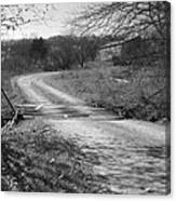 Country Roads Bw Canvas Print