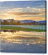 Country Sunset Reflection Canvas Print