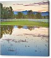 Country Sunset Reflections Canvas Print