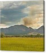 Country View Of The Flagstaff Fire Canvas Print