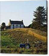 County Cork, Ireland Farmer On Tractor Canvas Print