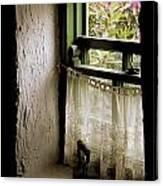 County Kerry, Ireland Cottage Window Canvas Print