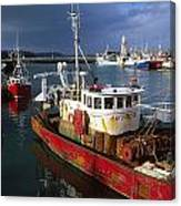 County Waterford, Ireland Fishing Boats Canvas Print