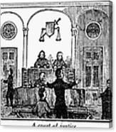 Courtroom, 1842 Canvas Print